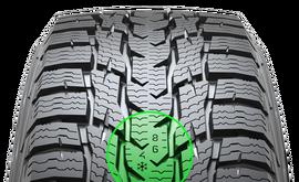 Nokian WR C3. Wskaźnik zużycia bieżnika DSI oraz zimowy wskaźnik bezpieczeństwa jazdy. Zwiększa bezpieczeństwo i komfort jazdy.