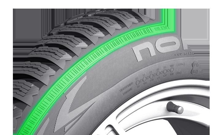 Nokian WR D4. Technologia cichej ściany bocznej. Większy komfort jazdy.