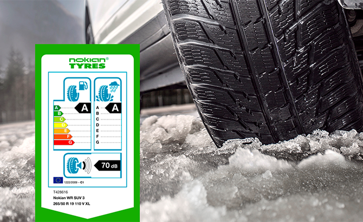 Nokian WR SUV 3: The EU tyre label's best A rating now in a winter tyre