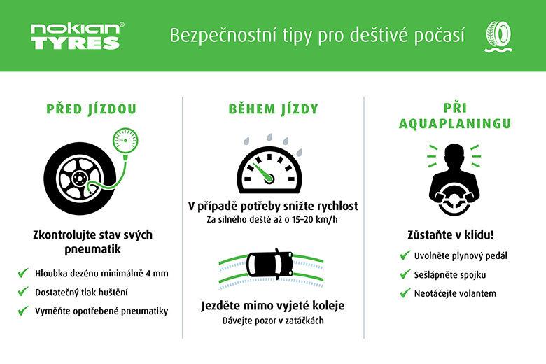 Nokian Tyres - Tipy pro bezpečnou jízdu při silném dešti