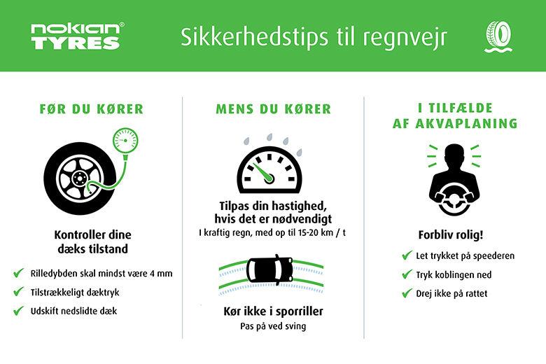 Tips til sikker kørsel i kraftig regn