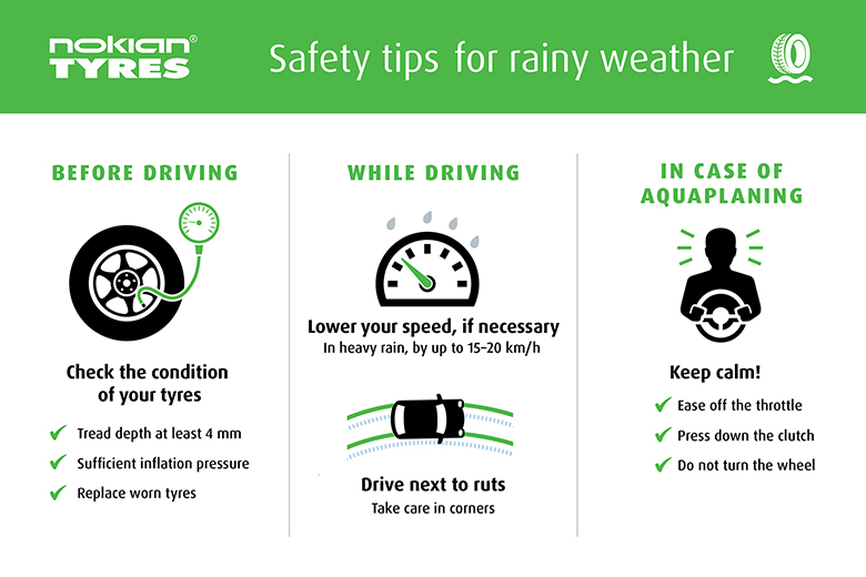 Nokian Tyres Tips for driving safely in heavy rain