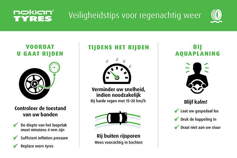 Nokian Tyres - Tips voor veilig rijden bij zware regen