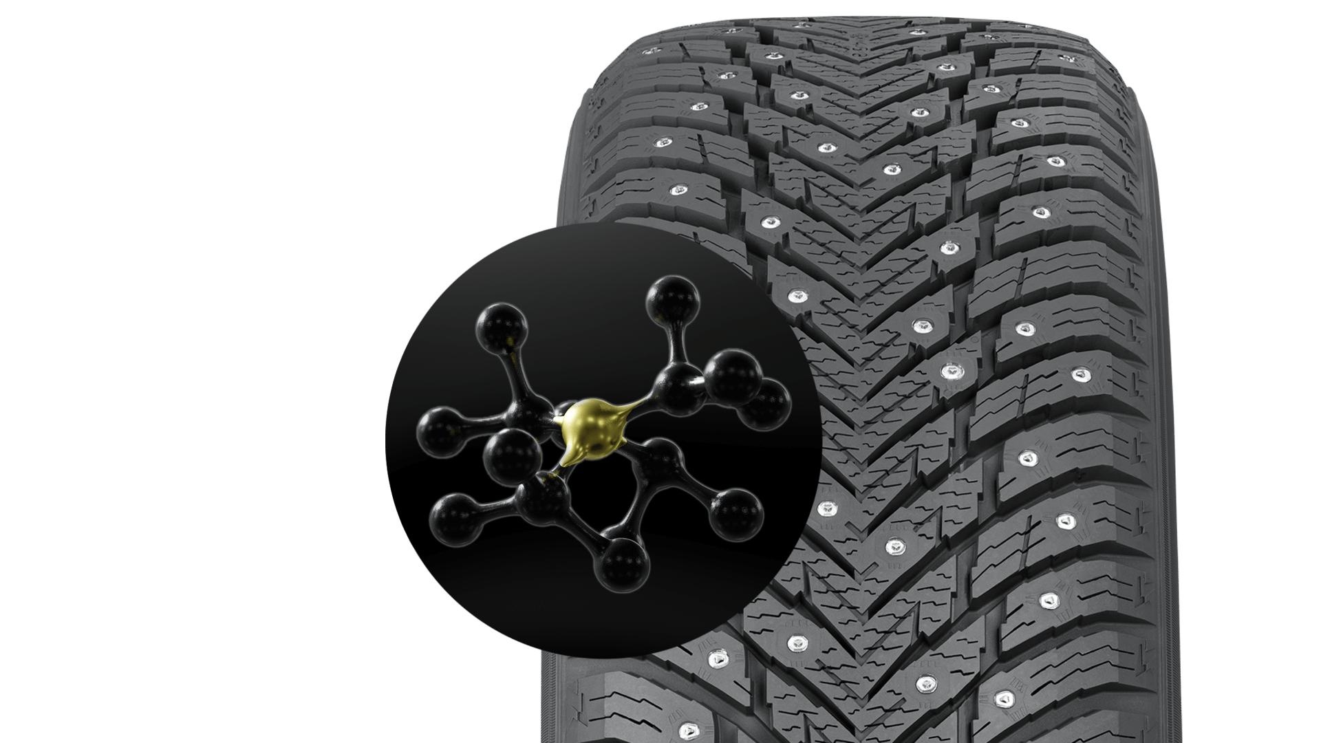 Our special rubber compound makes driving comfortable, even on mild winter days
