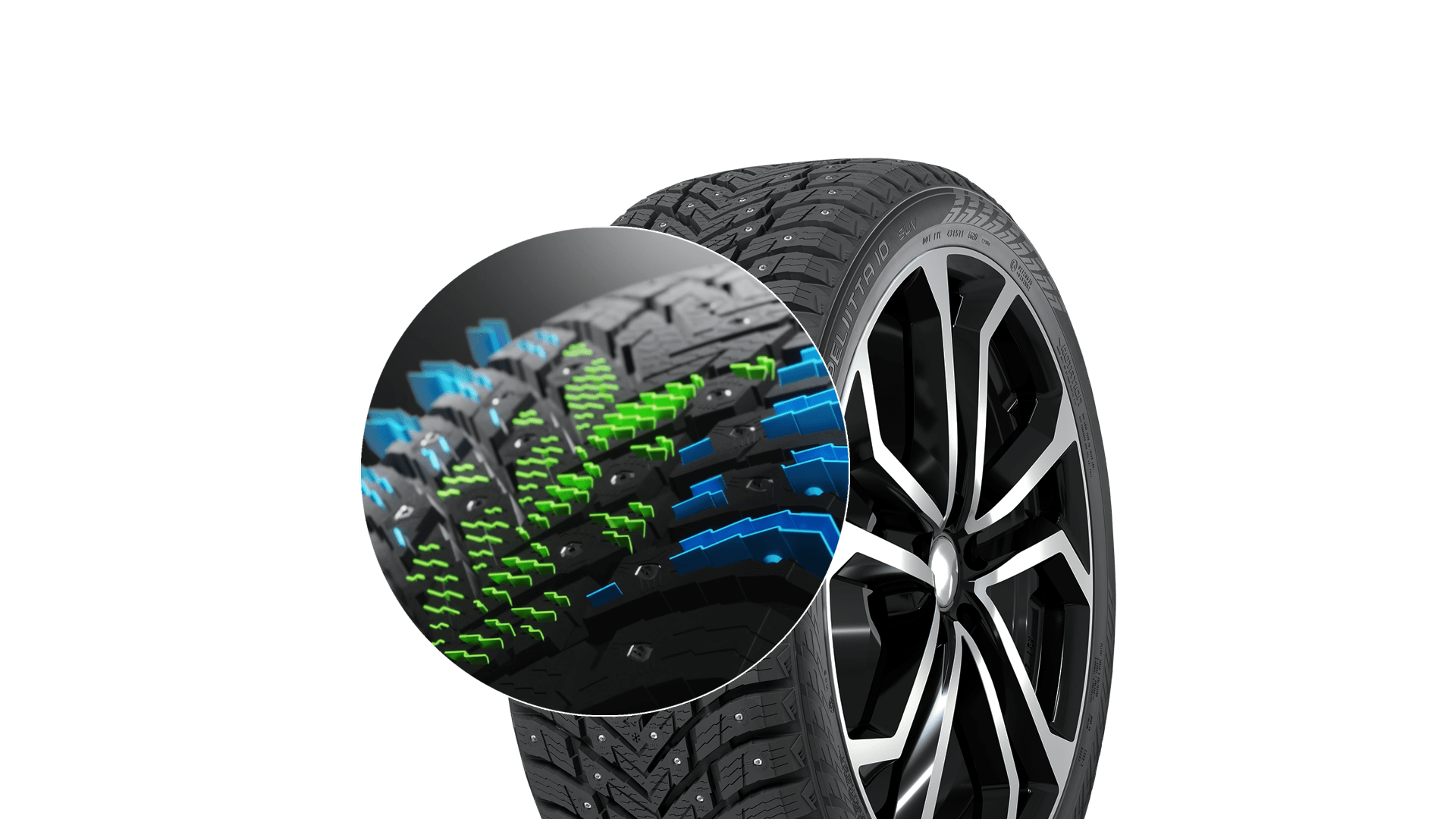The Nokian Hakkapeliitta 10's multi-functional siping delivers safe driving in slush