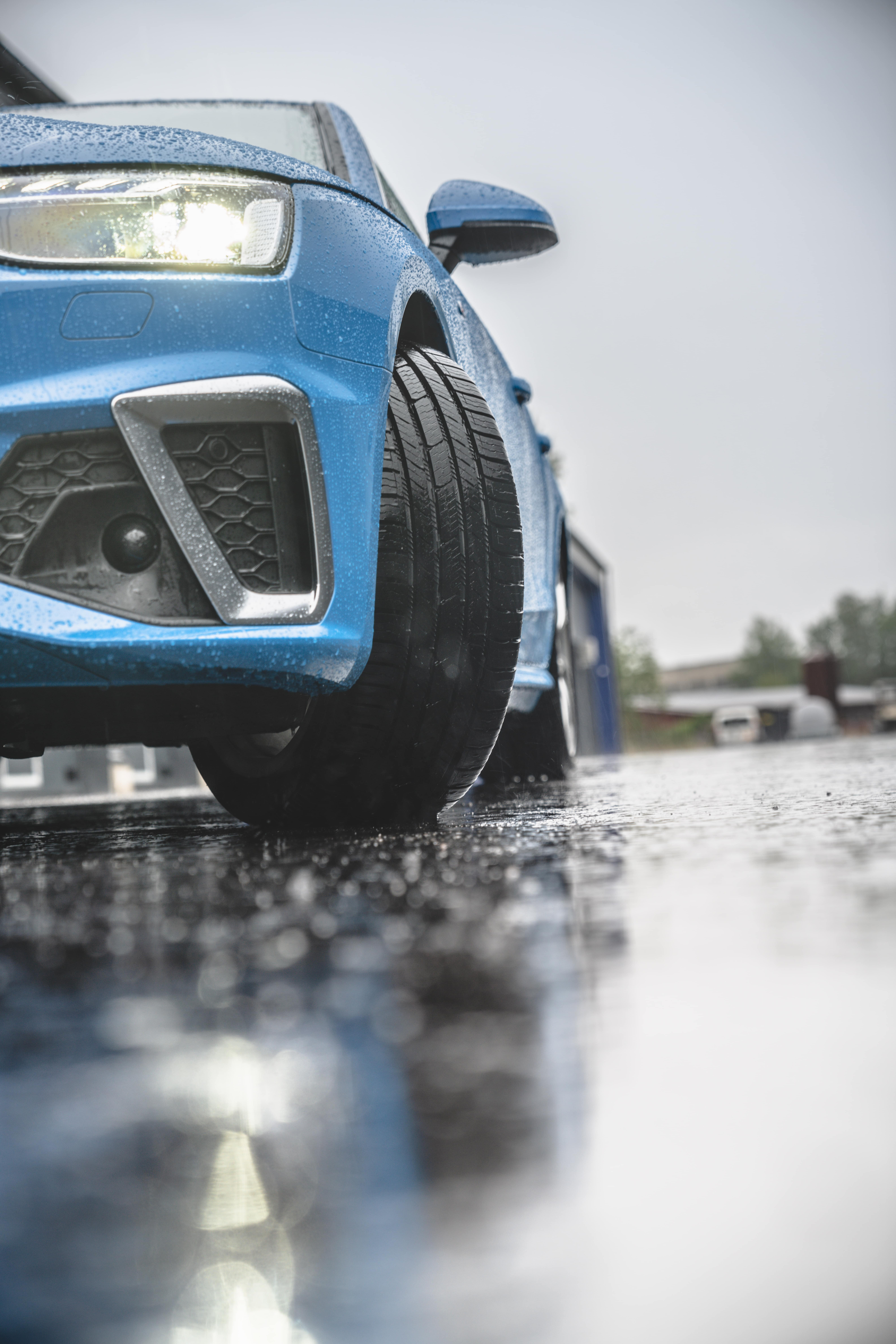 All season tires in the rain