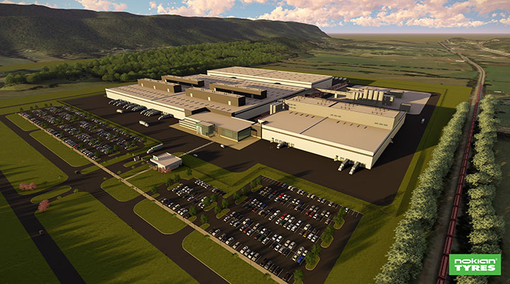 Nokian Tyres broke ground on its Tennessee Factory. The new factory will be the Company's first manufacturing facility in North America and it will be located in Dayton (Rhea County), Tennessee. Construction is scheduled to begin in early 2018 and the first tires are to be produced in 2020.