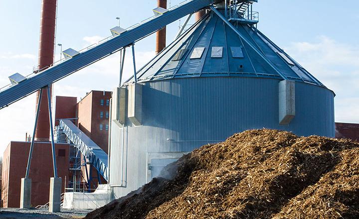 Neues biomassekraftwerk erhöht den anteil an grüner energie