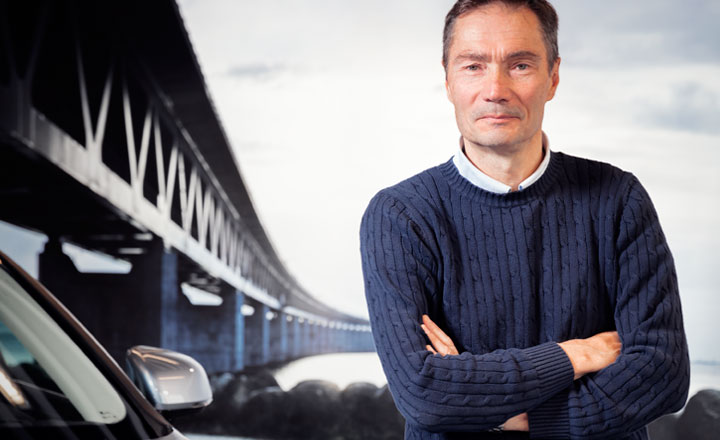 Robert Hansson, Direktor des Vehicle Dynamics & Active Safety Centre der Volvo Car Corporation.