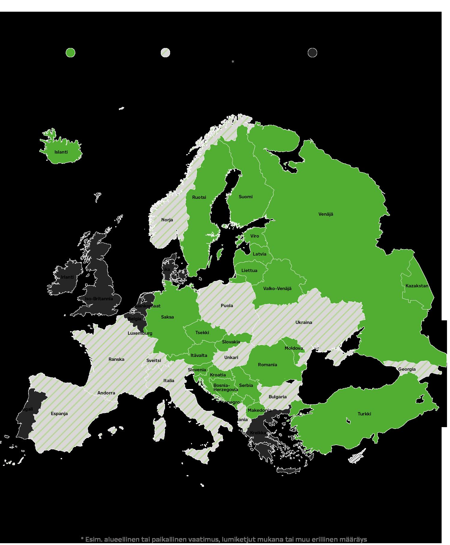 Talvirengasmääräykset Euroopassa
