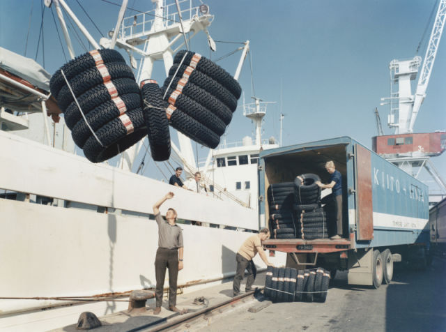 Towards Europe. The first international tire deliveries were made to the Baltic countries.