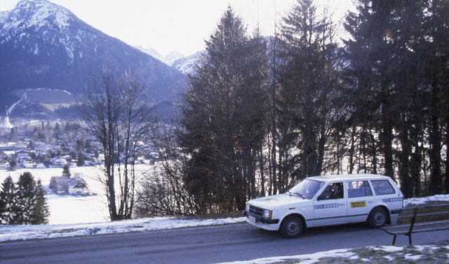 Testing in Central Europe. Testing tyres and seeking demanding conditions has always been very international.