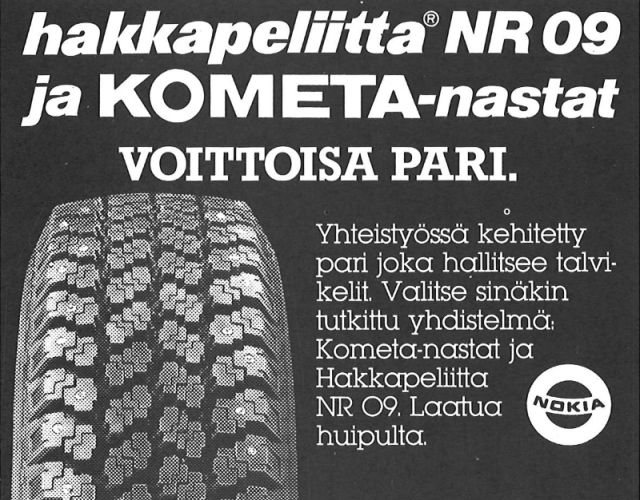 Hakkapeliitta 09 and Kometa studs were a winning combination in the 1980s.