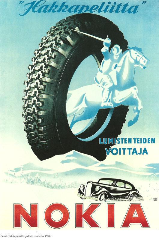 Lumi-Hakkapeliitta -juliste vuodelta 1936.