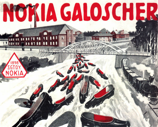 Advertisement for galoshes from 1899.