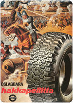 Hackapelites rushing forward in a tyre commercial in 1964.