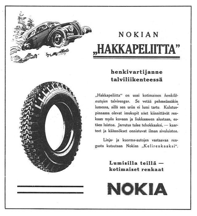 Advertisement. Nokian Hakkapeliitta.