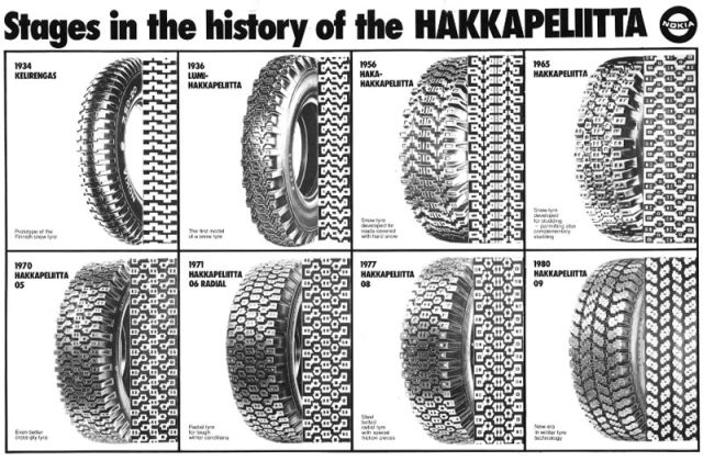Hakkapeliitta NR 09 continued the strong traditions. The winter tyre introduced in 1980 was the eighth Hakkapeliitta in history.