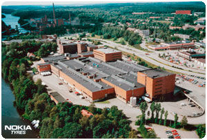 Nokia factory in the summer of 1994.