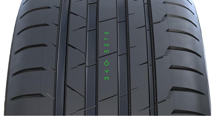 Kulumis- ja vesiliirtovaroitin (Nokian Hakka Black 2/Nokian Hakka Black 2 SUV)