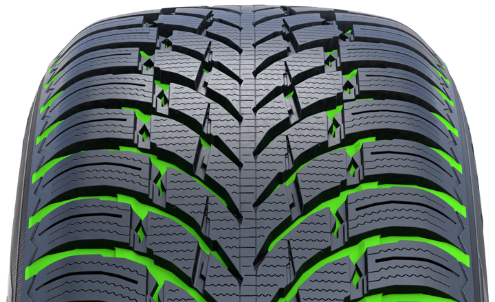 Nokian WR SUV 4. Stylish and functional. Slush and water flow easily and efficiently off the slick and polished main grooves.