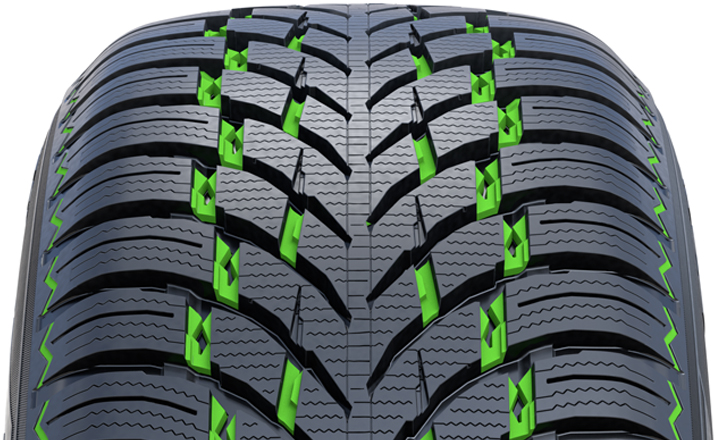 Nokian WR SUV 4. Snow Claws. Provide maximum grip on snow.