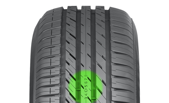Nokian eLine 2. Indicateur d'usure et d'aquaplanage.