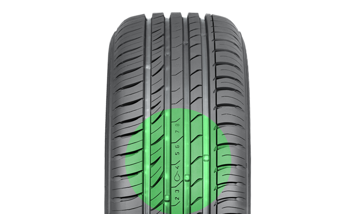 Nokian iLine. Driving safety and aquaplaning indicator.