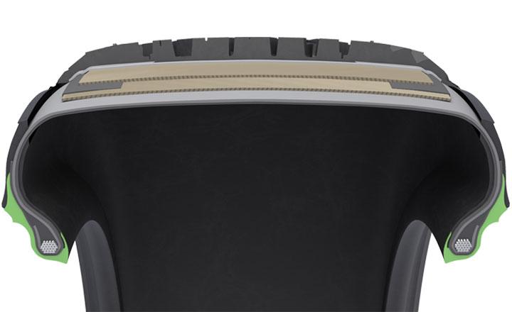 Nokian Hakkapeliitta 9, Nokian Hakkapeliitta 9 SUV. Спеціальна гумова суміш Clinch Rubber Compound. Оптимізована довговічність, низький рівень шуму.