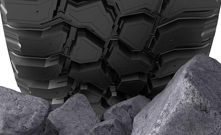 Die Nokian Rockproof Hybrid Gummimischung