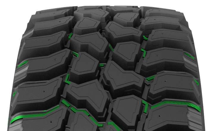 Nokian Rockproof. Stone ejectors on the groove bottoms