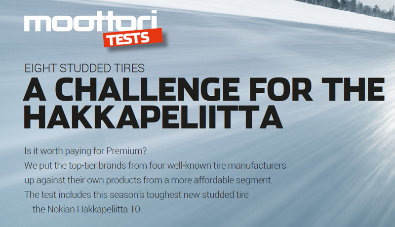 Moottori Tests for studded tires