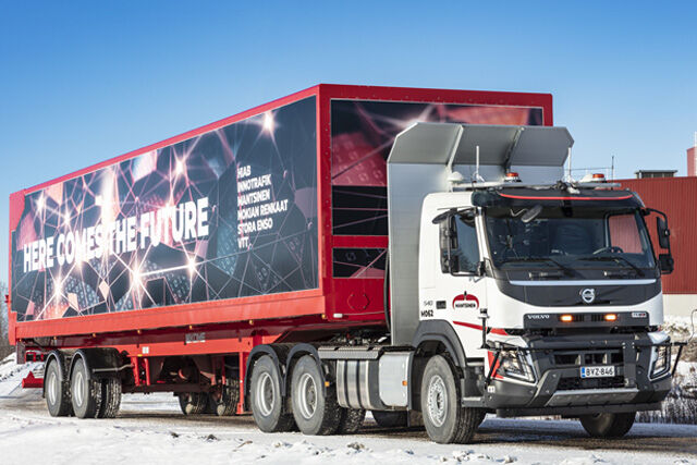 The renewable materials company, Stora Enso tests autonomous trucks – the Nokian Tyres Intuitu solution makes sure the tires perform their best at all times