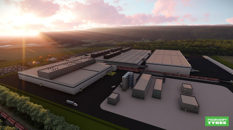 Nokian Tyres appoints Clayco as design build partner for its first North American manufacturing facility to be built in Tennessee