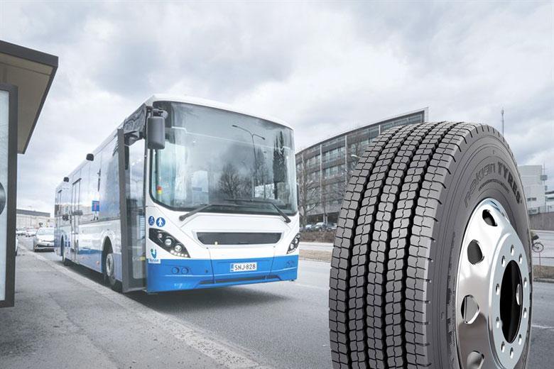 Kestävyyttä ja pitoa ympäri vuoden – Nokian Renkaat julkistaa uuden talvirenkaan kaupunkilinja-autoille