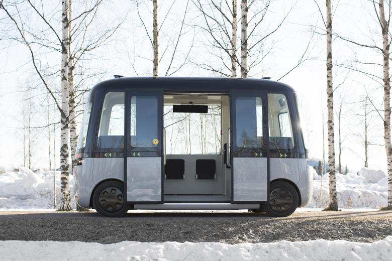 Autonomous driving: The world's first all-weather robot bus runs on Nokian Hakkapeliittas