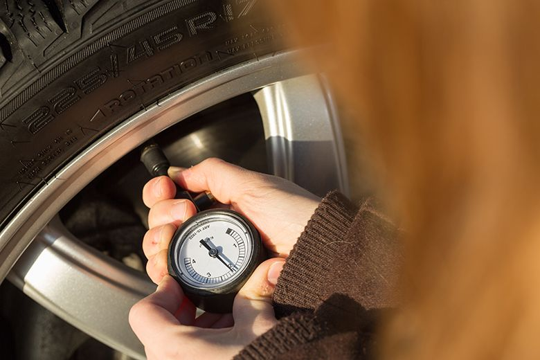 You should set the pressure of your winter tyres 0.2 bar (20 kPa) higher than the recommendation from the car manufacturer.