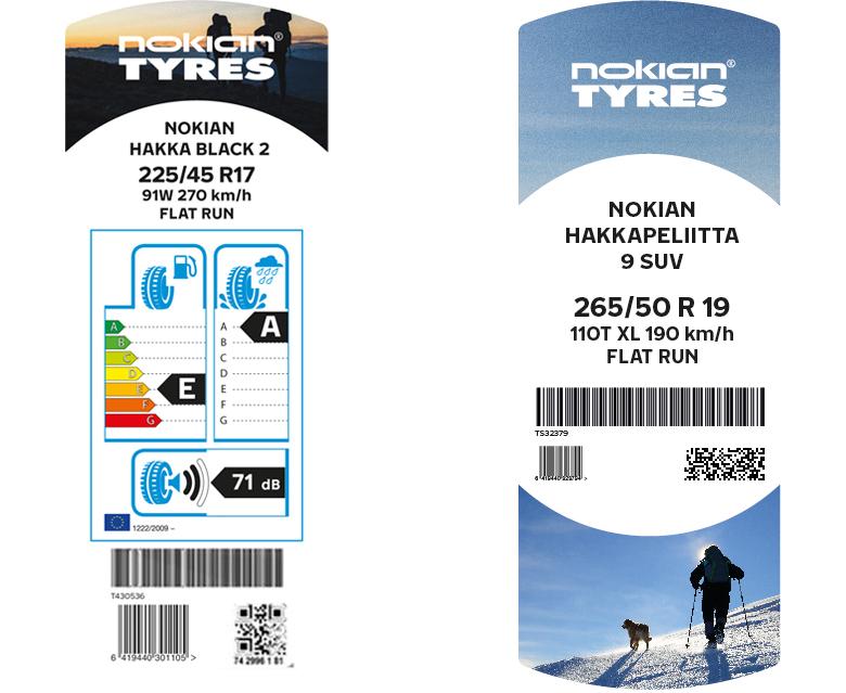 Nokian Tyres förnyar sina däcketiketter – framhäver kvalitet från Norden