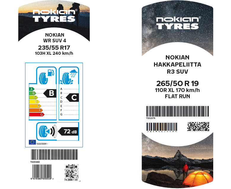 Nokian Tyres renews its tire labels – new appearance enhances the Scandinavian quality