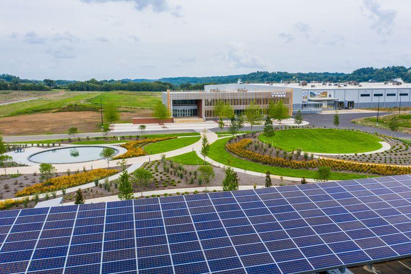 Dayton tire factory solar panels